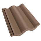 Image of the Hacienda Classic roof in brown colour on a transparent background