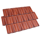 Image of Modern French, a type of monier roof tile, displayed on transparent background
