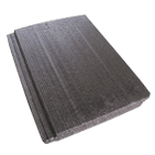 Black coloured Victorian, a type of Monier Roof Tile, on a transparent background