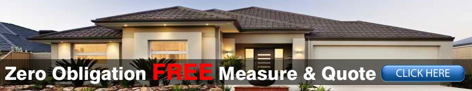 Image of a house with Zero obligation free measure & quote text written on it & a click here button