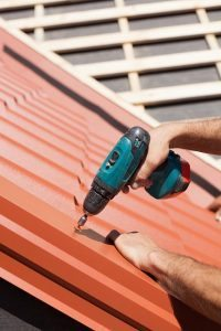 Drilling on roofing materials