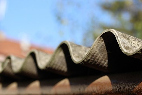 Close up of roof edge